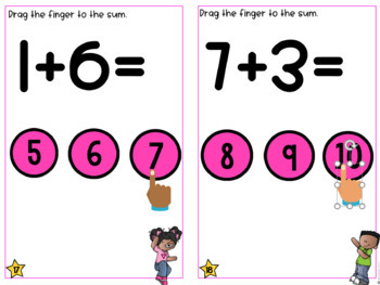 GOOGLE INTERACTIVE Math Centers Addition  K-2 *DIGITAL MATH CENTERS