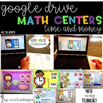 GOOGLE INTERACTIVE Math Centers Time Money K-2 *DIGITAL MATH CENTERS