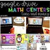 GOOGLE INTERACTIVE Math Centers Time Money K-2 *DIGITAL MA