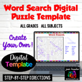 Interactive Word Search Puzzle Template with GOOGLE Slides™ Distance Learning