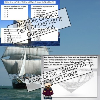 GOOGLE Jacques Cartier Passage: Text Dependent Questions and Response