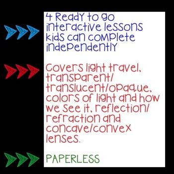 GOOGLE Light Unit No Prep Digital Interactive Lessons