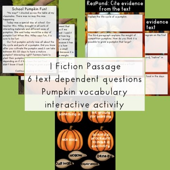GOOGLE Paired Passages Pumpkins Extended Response and Text Dependent Questions