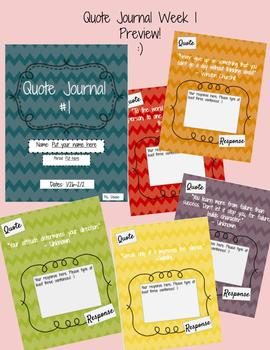 GOOGLE Quote Journal #1 EDITABLE