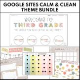 GOOGLE SITES Calm & Clean Theme Bundle   Ready to Upload