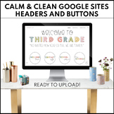 GOOGLE SITES Calm & Clean Buttons and Headers | Ready to Upload