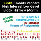 GOOGLE SLIDE Bundle 8 Black History Month HIGH LOW: 36 Pas