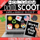 GOOGLE SLIDES DIGITAL SCOOT HOLIDAY BUNDLE:  7 Holiday Digital Scoot Games