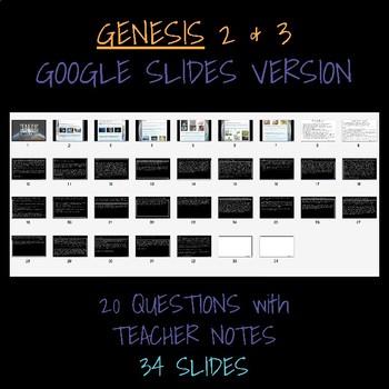GOOGLE SLIDES - GENESIS PART TWO - TEACHER NOTES