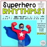 GOOGLE SLIDES Superhero Rhythm Games, 7 Interactive Game BUNDLE