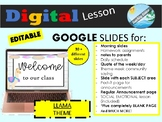 GOOGLE SLIDES - distance learning - LLAMA theme ( morning