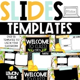 GOOGLE Slides Templates - Lemon Theme Distance Learning