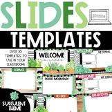 Watercolor Succulent Slides Templates | Distance Learning | for Google Slides™