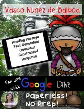 GOOGLE Vasco Nunez de Balboa Passage: Text Dependent Quest
