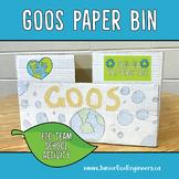 GOOS Paper Bins, Eco Club Project, Eco Team Activity, Redu