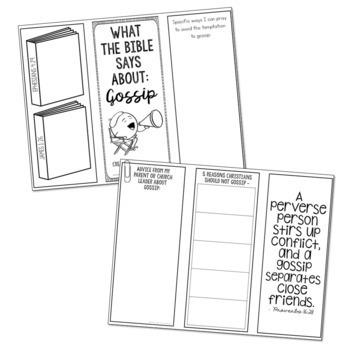 GOSSIP: Bible Activity for Teens, Brochure Project, Interactive Lesson