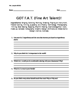 GOT F.A.T. Fine Art Talent Unit