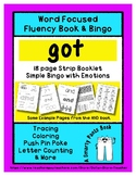 GOT - Word Fluency Book & Emotion Bingo - Sight Word Focus