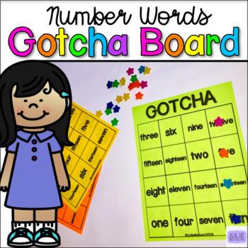 GOTCHA Boards: Number Words