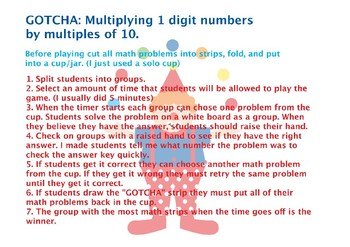 GOTCHA- Multiplying 1 digit by a multiple of 10