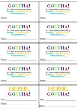 GOTCHA Reward System