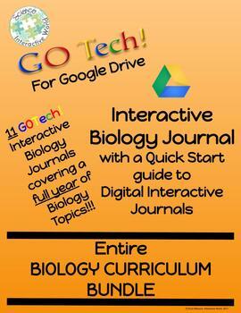 GOTech Digital Interactive Biology Journal Biology FULL YEAR Growing Bundle