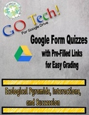 GOTech!! Google Form Quizzes - Ecological Pyramids, Interactions, and Succession