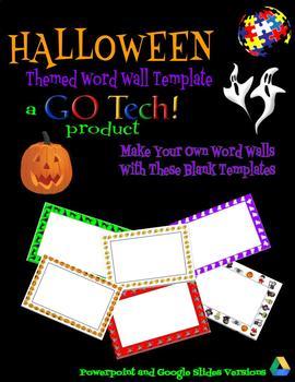 GOTech! HALLOWEEN Themed Word Wall Template - EDITABLE