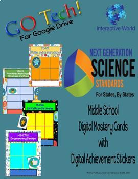 GOTech!! NGSS Digital Mastery Charts for Middle School (with Digital Stickers)