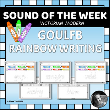 GOULFB Rainbow Writing Pages -- Victorian Modern