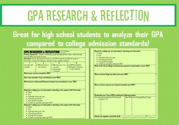 GPA Research & Reflection