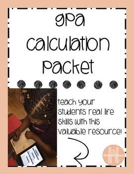 GPA calculation worksheet