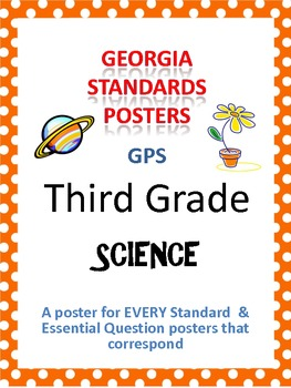 GPS Posters for Science - Third Grade (with EQ's)