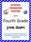GPS Posters for Social Studies - Fourth Grade (with EQ's)