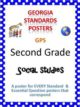 GPS Posters for Social Studies - Second Grade (with EQ's)