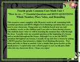 GR 4 Common Core Math Unit 1 Essential Questions and HOTS Questions