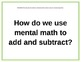 GR 4 Common Core Math Unit 1 Essential Questions and HOTS