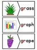 GR Blends Phonics Center:  Picture and Word Match Puzzles