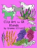 GR Blends Clip Art Realistic Color and Black Line