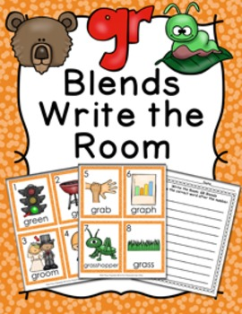 GR Blends Write the Room Activity