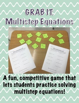 GRAB IT!  A Multistep Equations Game