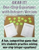 GRAB IT!  One-Step Equations with Integers Game