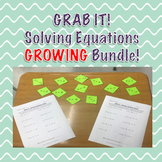 GRAB IT!  Solving Equations Game GROWING BUNDLE