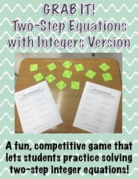 GRAB IT! A Two-Step Equations with Integers Game