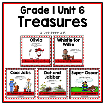 GRADE 1 TREASURES - Unit 6 BUNDLE - Common Core Connections