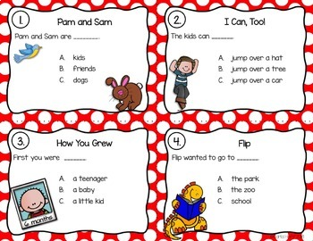 GRADE 1 TREASURES - Year End Review Task Cards