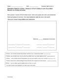 GRADE 2 MATH Formative Assessments (UNIT 1) [APPLICATION WITH RUBRIC SCORING]