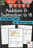 1st and 2nd Grade Math Unit:  Addition and Subtraction to 18 ***PDF