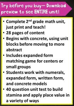 2nd Grade Unit & Test: Place Value to 999 (TEKS, STAAR, Common Core)***PDF