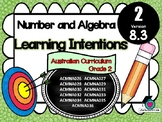 GRADE 2  Math - Number & Algebra Learning INTENTIONS & Success Criteria! (AC)